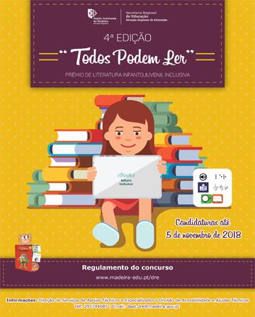 """Regulamento da 4ª Edição do Prémio de Literatura Infantojuvenil Inclusiva """"Todos Podem Ler"""""""