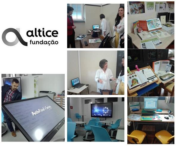 Visita da diretora da Fundação Altice