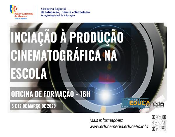 """Oficina de formação """"Iniciação à Produção Cinematográfica na Escola"""""""
