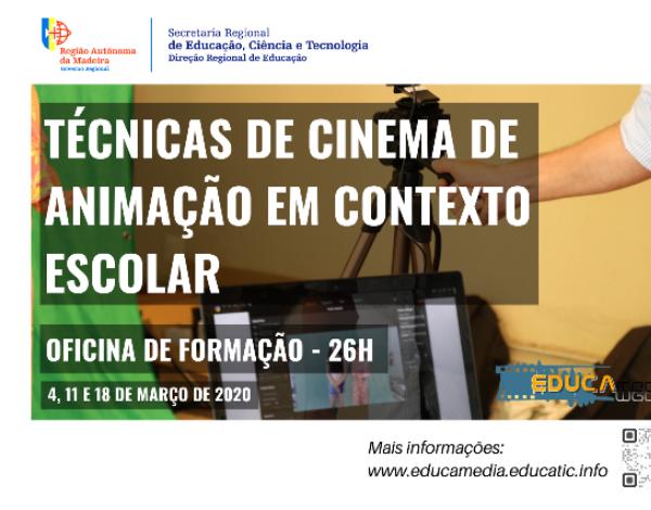 """Oficina de formação """"Técnicas de Cinema de Animação em Contexto Escolar"""""""