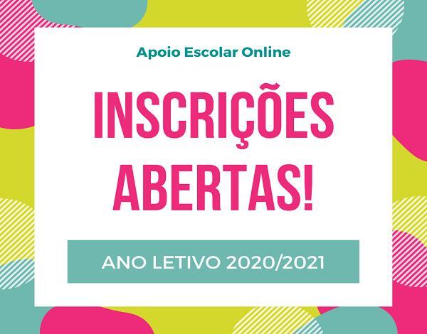 Apoio Escolar Online |Ano Letivo 2020/2021