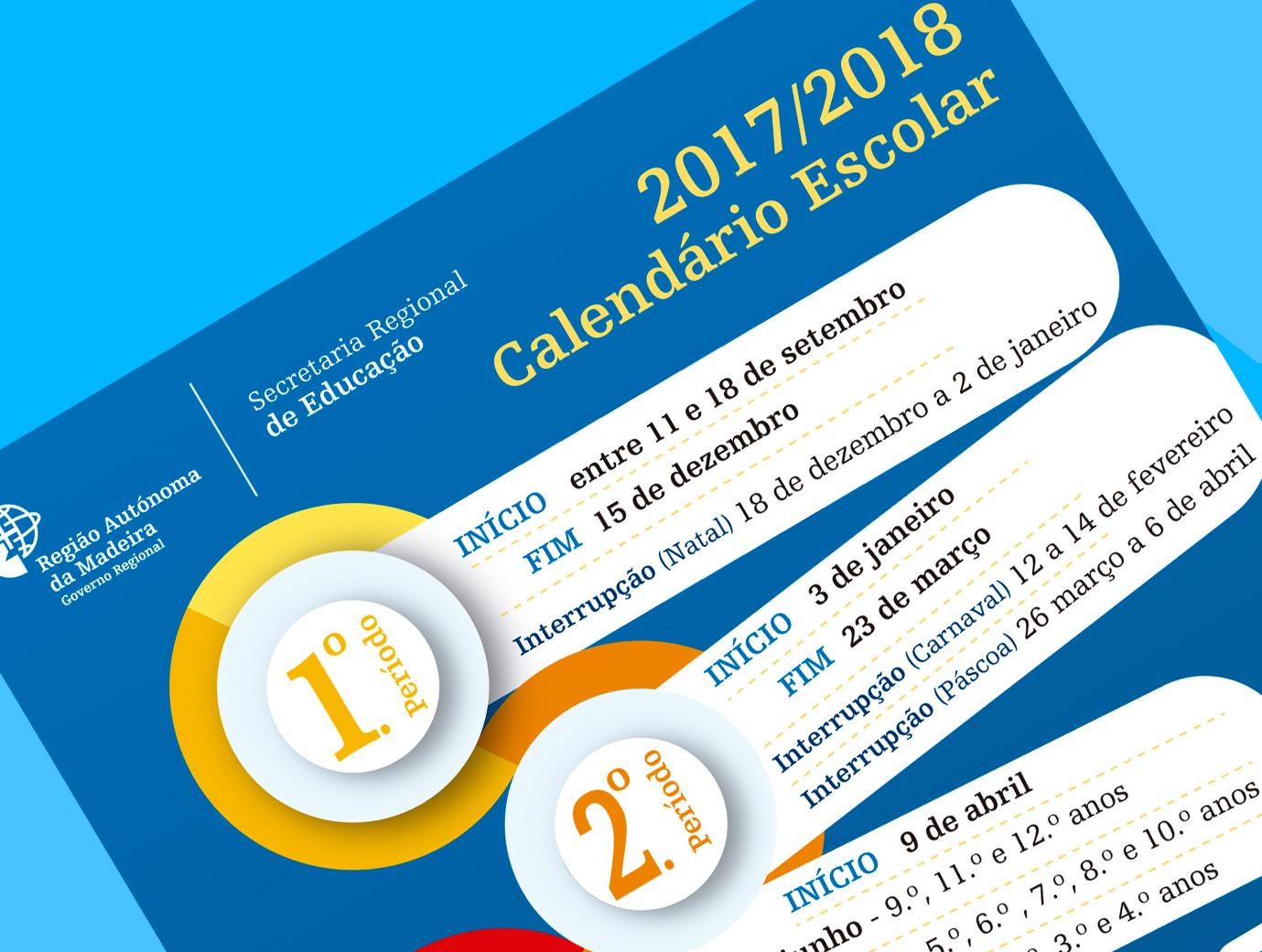Calendário escolar 2017/2018