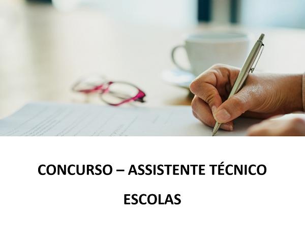 Concurso – Assistente Técnico – Escolas