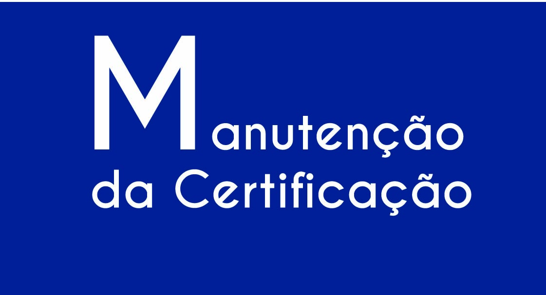 Manutenção da Certificação