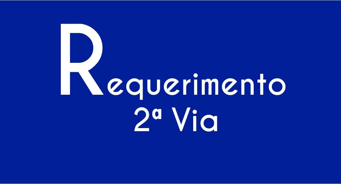 Requerimento de 2ª vias de certificados e certidões