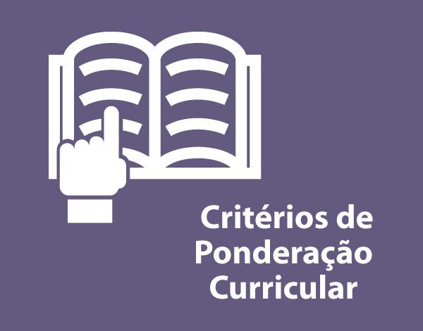 Critérios de Ponderação Curricular