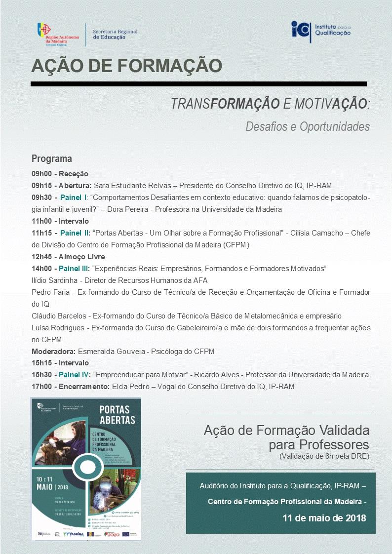 """Ação de Formação """"Transformação e Motivação: Desafios e Oportunidades"""""""