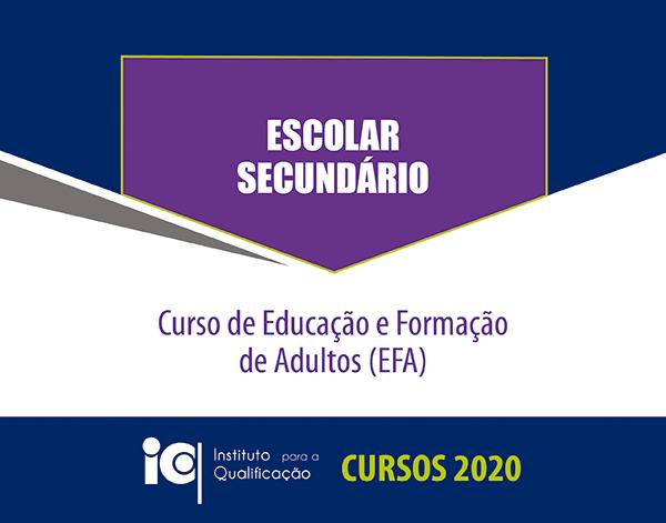 Curso de Educação e Formação de Adultos - Escolar Secundário