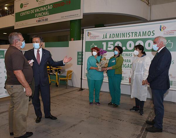 Madeira já administrou 150 mil doses da vacina contra a COVID-19