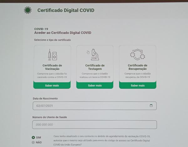 Certificado Digital COVID-19 da União Europeia