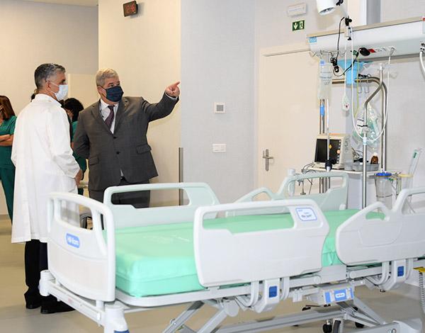 Pedro Ramos visitou espaços dedicado ao tratamento da COVID-19 no Hospital