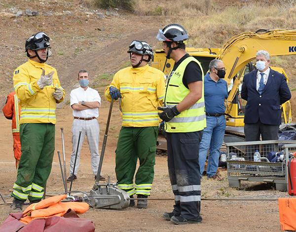Pedro Ramos no curso de salvamento ultrapesado destinado aos bombeiros sapadores do Funchal