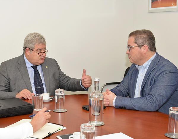 Pedro Ramos reuniu com Mário Pereira