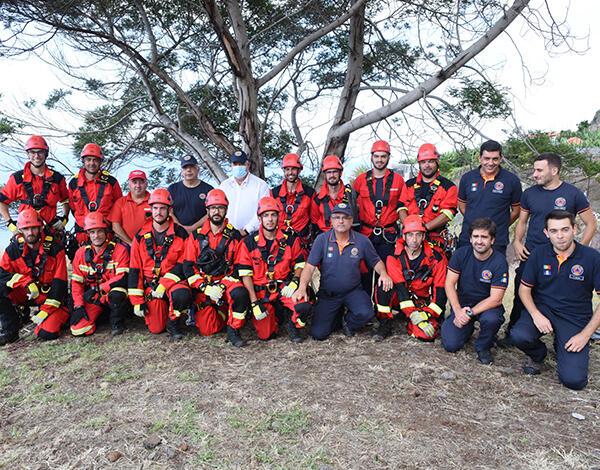 Pedro Ramos acompanhou exercício de resgate em montanha na Calheta