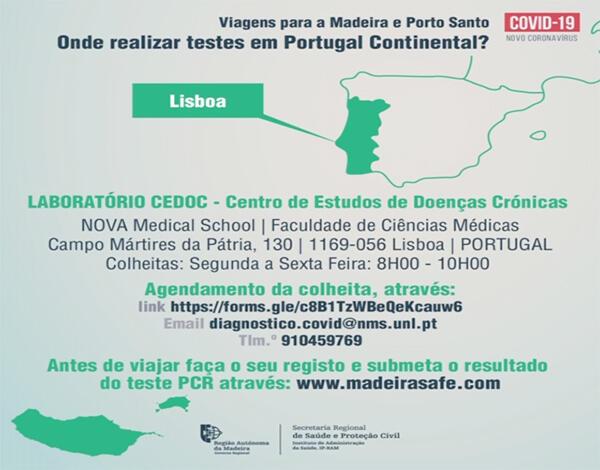 Passageiros podem realizar teste à Covid-19 em Lisboa sem custos
