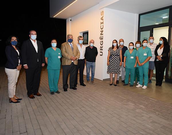 Pedro Ramos esteve na reabertura das portas do Serviço de Urgência no Novo Centro de Saúde Calheta