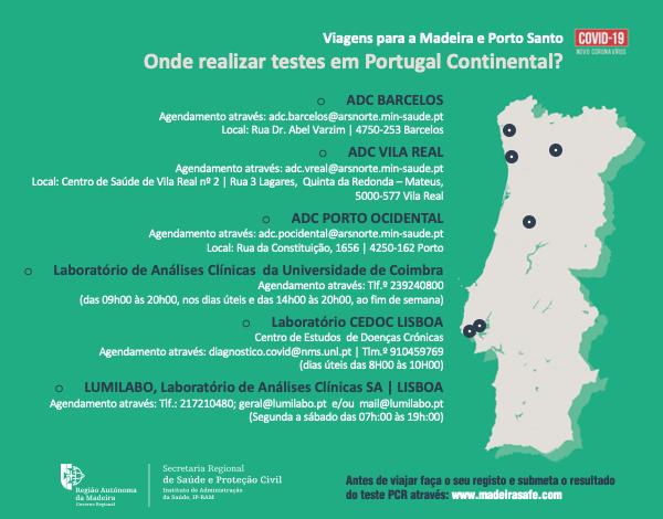 Passageiros podem realizar teste à Covid-19 em Lisboa, Algarve, Porto, Coimbra, Vila ReaL e Barcelos