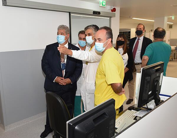 Pedro Ramos visitou novo espaço do Serviço Urgência