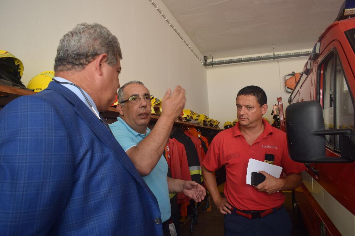Pedro Ramos visitou corporação de Bombeiros da Ribeira Brava