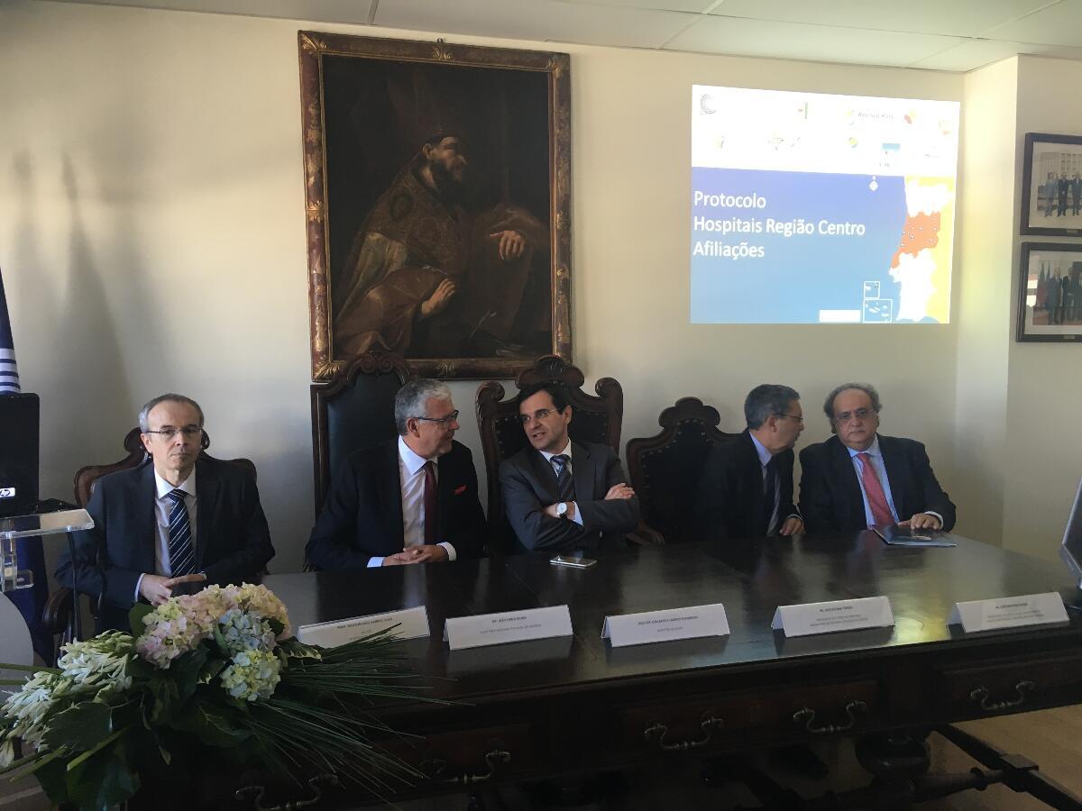 SRS formaliza protocolo em Coimbra na presença do Ministro da Saúde