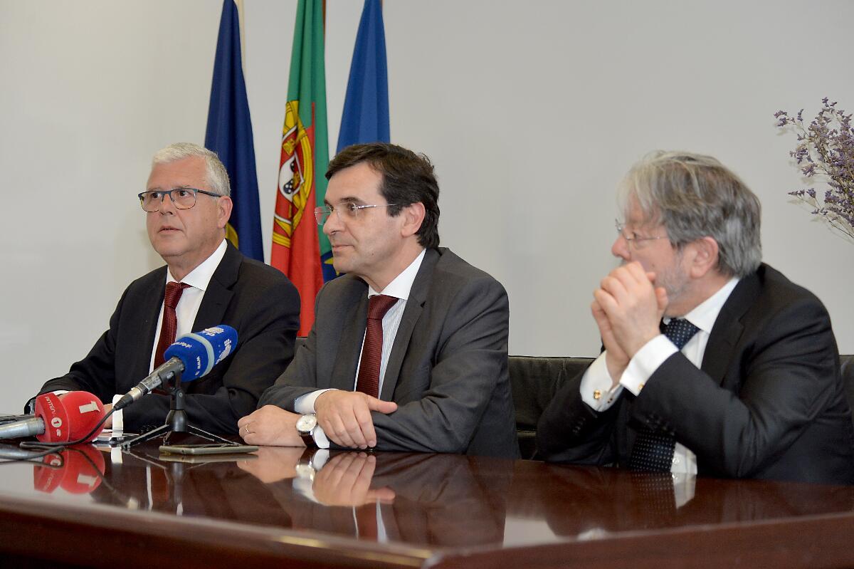 SRS recebeu o Ministro da Saúde para reunião de trabalho