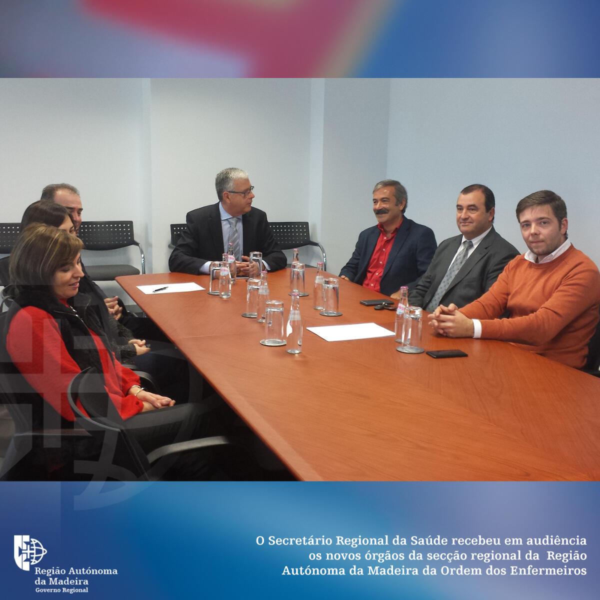 Ordem dos Enfermeiros reuniu com o Secretário Regional da Saúde