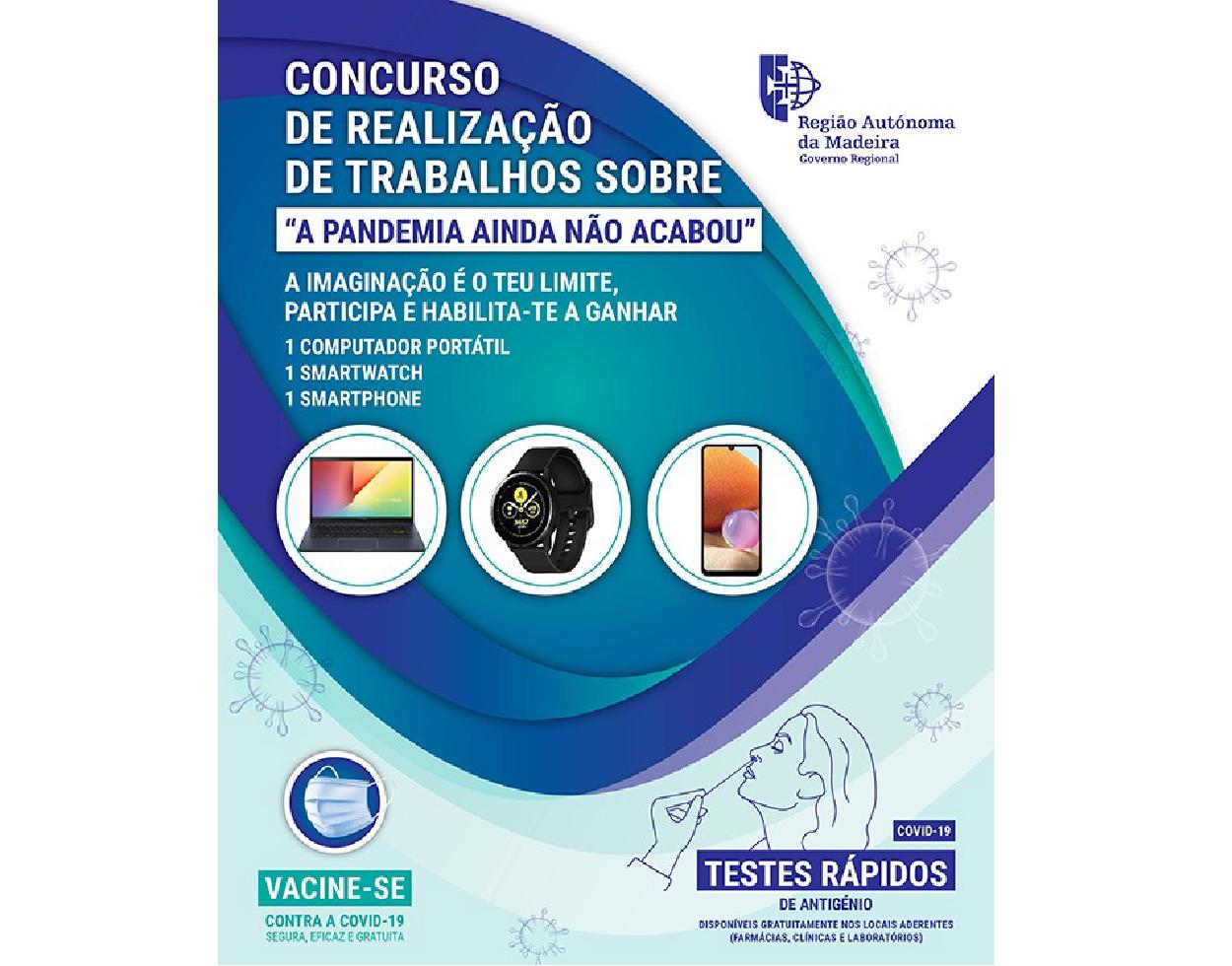 """Saúde promove concurso nas escolas: """"A Pandemia ainda não acabou"""""""