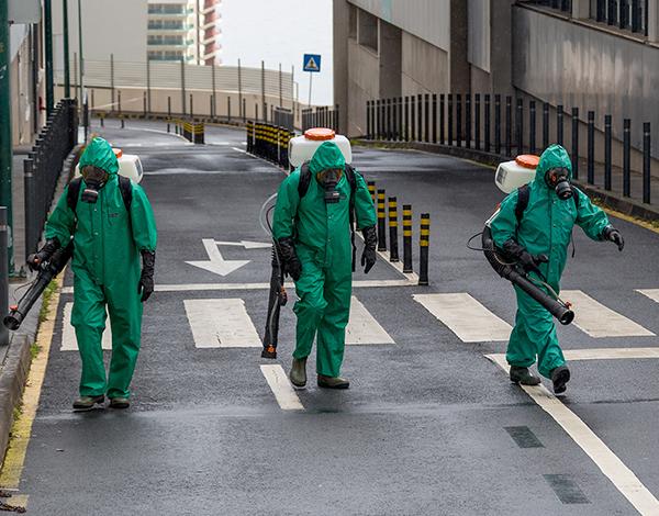Hospital Dr. Nélio Mendonça: áreas exteriores desinfetadas