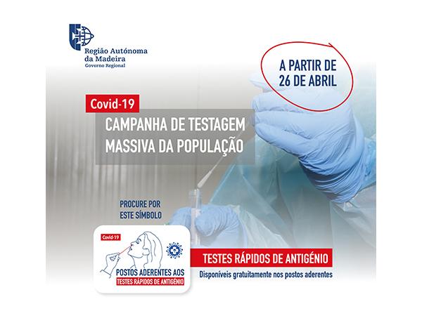 Testes rápidos de antigénio disponíveis para a população nas farmácias, clinicas e laboratórios