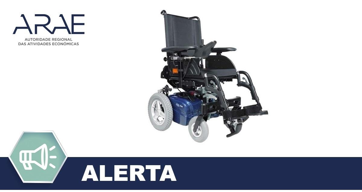 Alerta -  Rodas traseiras em várias cadeiras de rodas elétricas - Invacare FOX