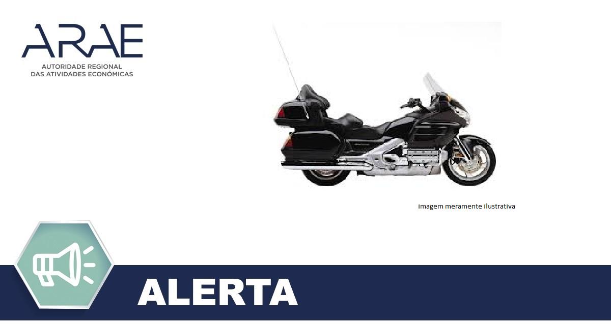 Alerta - Anomalia airbag - Honda GL1800A Goldwing