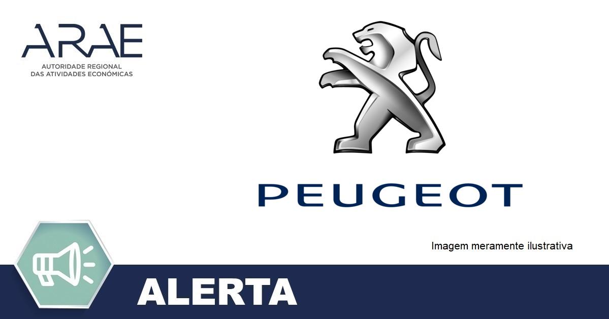 Alerta – Anomalia nos vários veículos da marca/modelo Peugeot