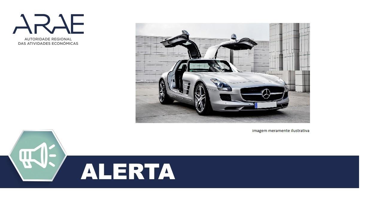 Alerta - Mercedes-Benz modelo SLS AMG