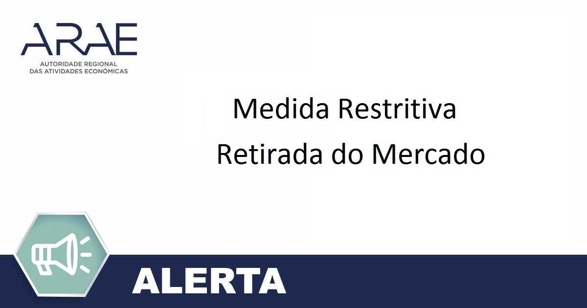 Alerta - Medida Restritiva - Proibição da disponibilização no Mercado de Produtos de Cristal sem chumbo