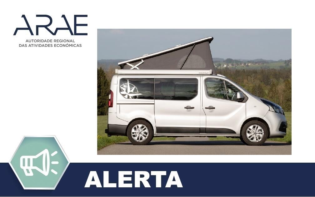 Alerta ARAE – Autocaravana Michelangelo da marca Westfalia