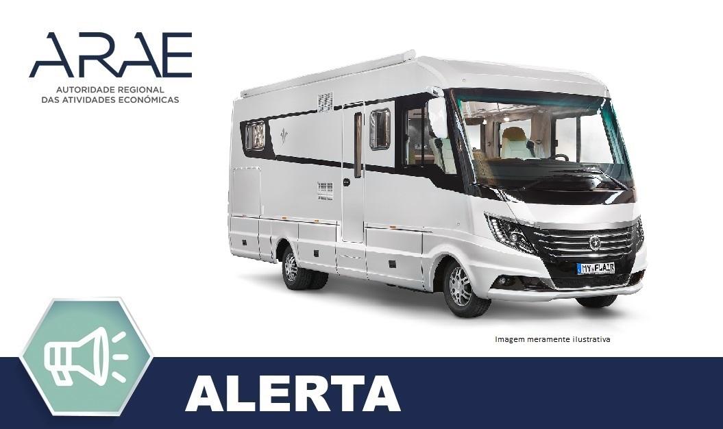 "Alerta ARAE – Autocaravana ""Flair"" da Niesmann & Bischoff"
