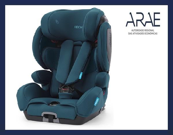 """Alerta ARAE – Acessório Automóvel: Cadeira Auto para criança da marca """"RECARO"""""""