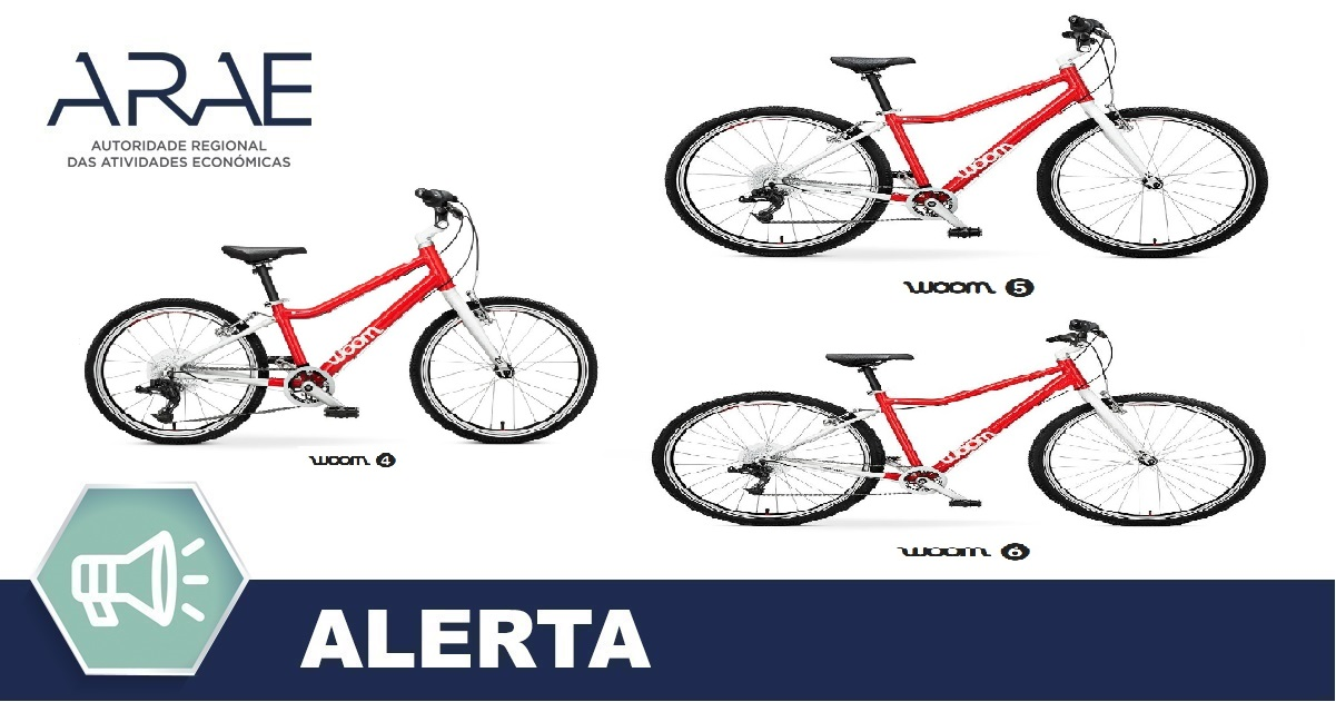 "Alerta ARAE – Bicicleta de criança da marca ""woom"""