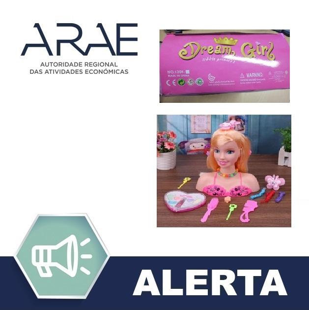 "Alerta ARAE – Brinquedo - ""Busto de maquilhagem"""