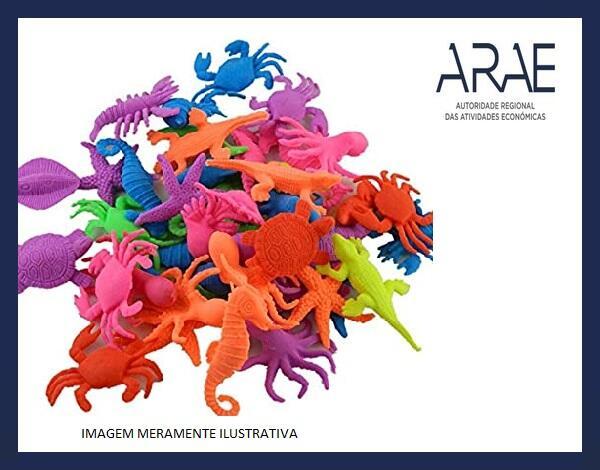 """Alerta ARAE – Brinquedo - """"Conjunto de animais marinhos que crescem quando entram em contato com água"""""""