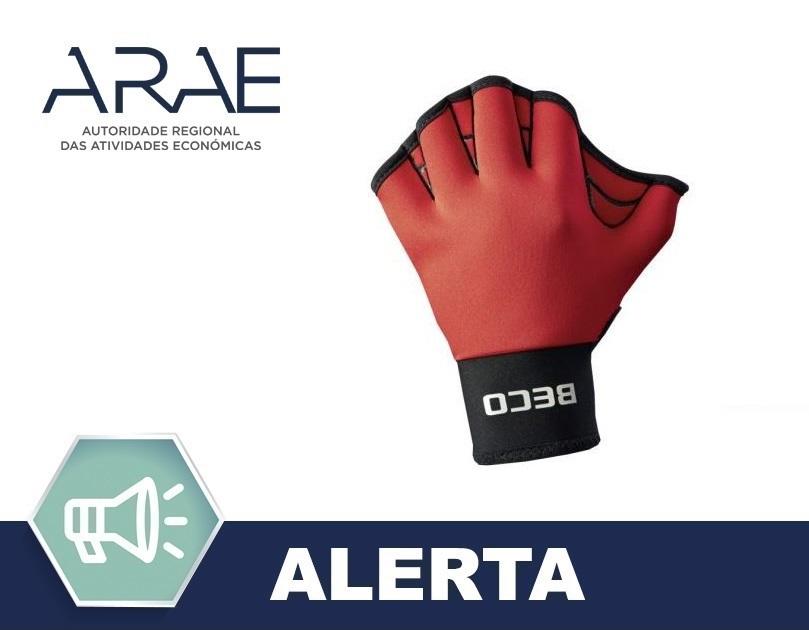 Alerta ARAE – Luvas de natação