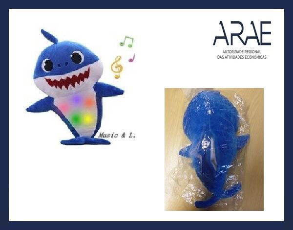 "Alerta ARAE – Brinquedo - ""Peluche Baby Shark"""