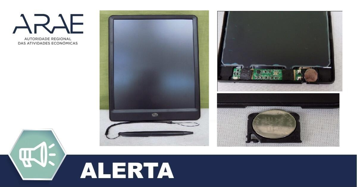 "Alerta ARAE – Brinquedo - ""Tablet"""