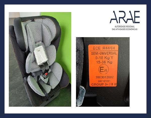 """Alerta ARAE – Sistema de Retenção Infantil da marca """"Ding Baby"""""""