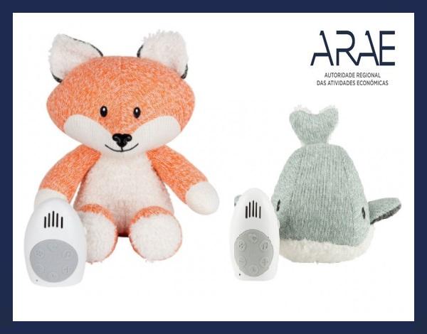 """Alerta ARAE – Brinquedo com caixa de música da marca """"FLOW"""""""