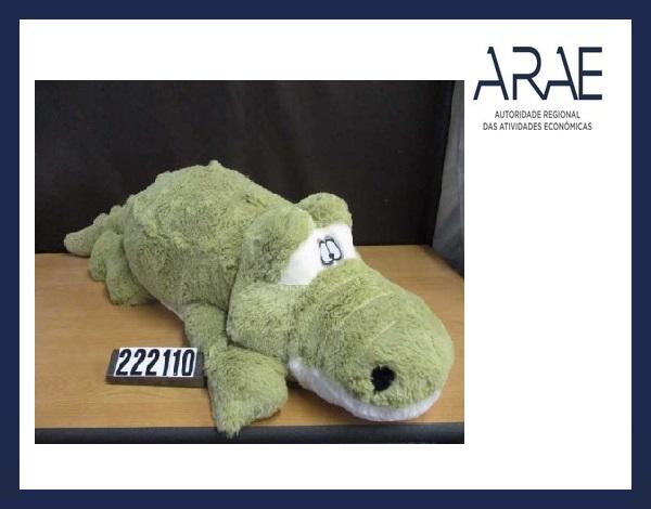 """Alerta ARAE – Brinquedo - """"Crocodilo de peluche"""""""