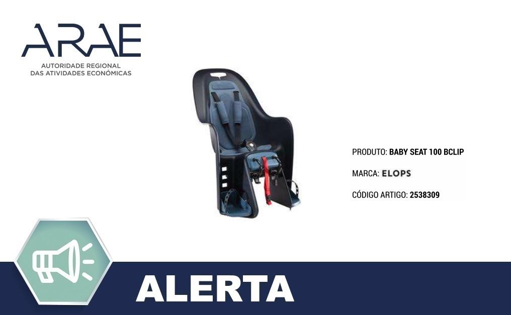 Alerta ARAE – Cadeira de bebé para Bicicleta