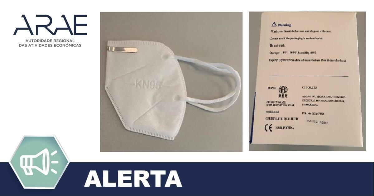 """Alerta ARAE – Máscaras comercializadas como sendo do tipo KN95/FFP2, mas, no entanto, não conferem a proteção esperada para uma máscara desse tipo – Marca: """"NEP"""""""