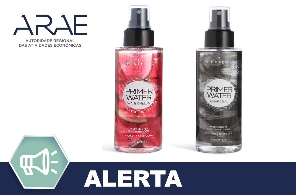 "Recolha voluntária dos produtos cosméticos ""Primer Water Watermelon"" e ""Primer Water Charcoal"" da marca Primark"