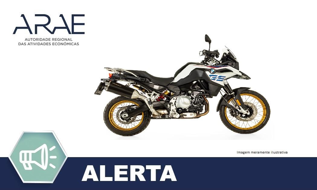 Alerta ARAE - Veiculos Motorizados BMW F750 GS e F850 GS